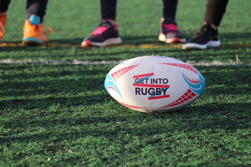 Rugby ball on grass